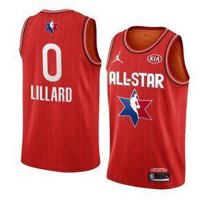 Blazers #0 Damian Lillard 2020 All-Star Jersey Red